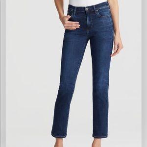 Citizens of Humanity Dark Wash Straight Crop Jeans